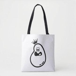 Fantasma lindo de Halloween con la corona Bolso De Tela