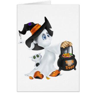 Fantasma lindo de Halloween Tarjeta