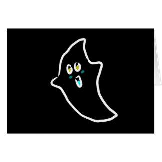 fantasma lindo de Halloween Tarjeta De Felicitación