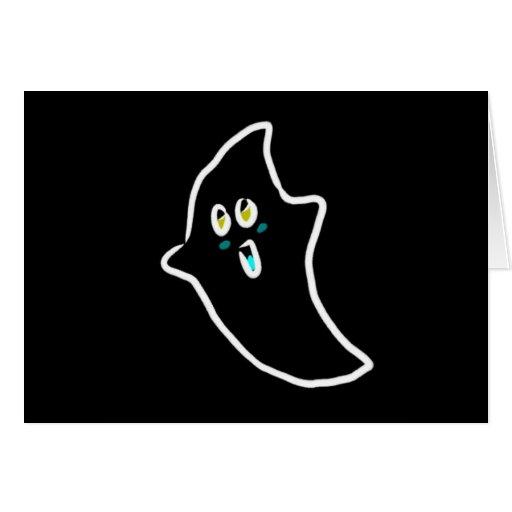 fantasma lindo de Halloween Tarjetas