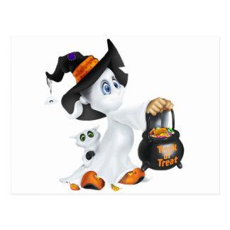 Fantasma lindo de Halloween Postal