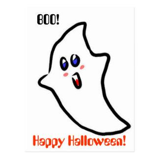 Fantasma lindo de Halloween Tarjetas Postales