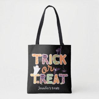 Fantasma lindo Halloween del truco o de la Bolso De Tela