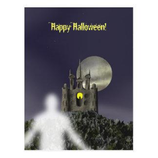 Fantasma - postal de Halloween