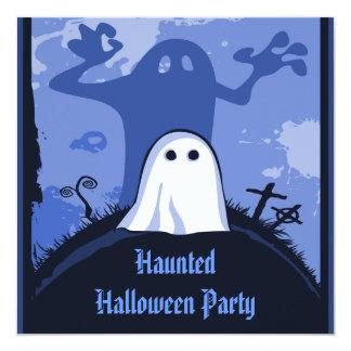 Fantasma y su cementerio Halloween de la sombra Invitación 13,3 Cm X 13,3cm