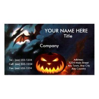 ~ FANTASMAGÓRICO del diseño de Halloween de la Tarjetas De Visita