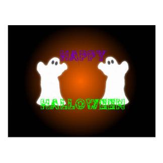 Fantasmas de Halloween Postal