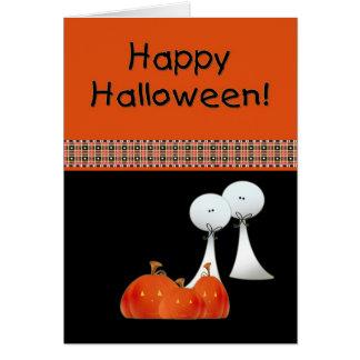 Fantasmas de Halloween Tarjeton