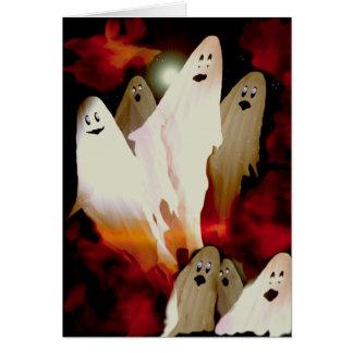 Fantasmas de Halloween Tarjeta De Felicitación