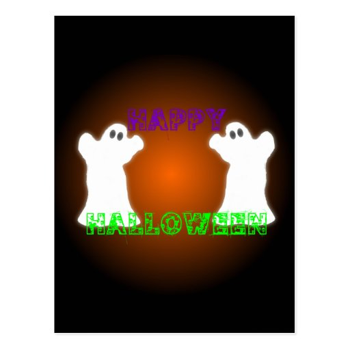 Fantasmas de Halloween Tarjeta Postal