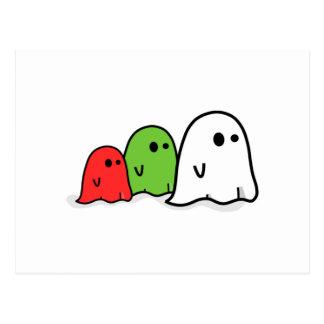 Fantasmas de Halloween Tarjetas Postales