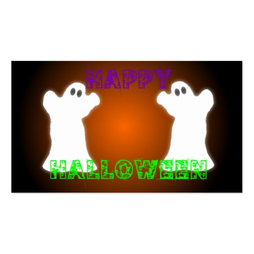 Fantasmas de Halloween Tarjeta De Negocio