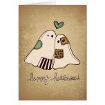 fantasmas del feliz Halloween Felicitación