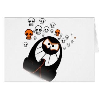 Fantasmas del feliz Halloween Tarjeta De Felicitación