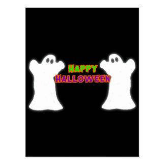 Fantasmas del feliz Halloween Postal