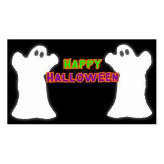 Fantasmas del feliz Halloween Plantilla De Tarjeta Personal