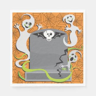 Fantasmas en las servilletas de papel de una