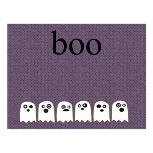 fantasmas en una línea abucheo tarjeta postal