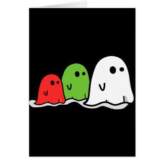 Fantasmas italianos Kawaii del feliz Halloween lin Tarjeta De Felicitación