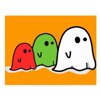 Fantasmas italianos Kawaii del feliz Halloween Postal