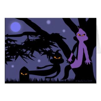 Fantasmas y tarjeta de felicitación de Halloween