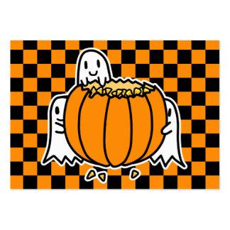 Fantasmas y tarjeta de Halloween de la calabaza Tarjetas De Visita Grandes