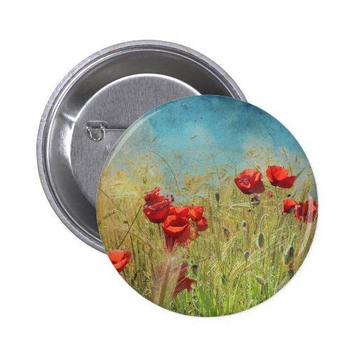 Fantasy poppies pin