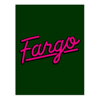 Fargo en magenta postal