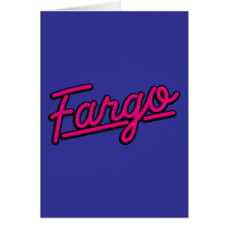 Fargo en magenta tarjetas