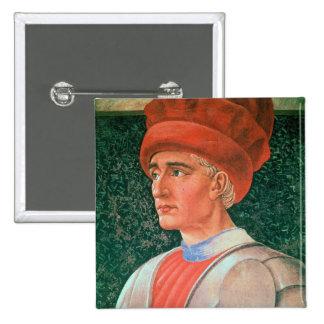 Farinata degli Uberti, detalle de su busto, del th Chapa Cuadrada 5 Cm