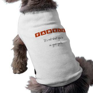 Farkle Camiseta Sin Mangas Para Perro