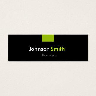 Farmacéutico - acuerdo de verde menta tarjeta de visita pequeña