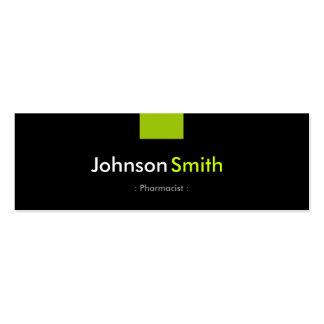 Farmacéutico - acuerdo de verde menta plantilla de tarjeta de negocio