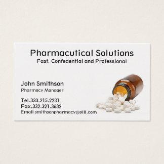 Farmacéutico de la tarjeta de visita de la