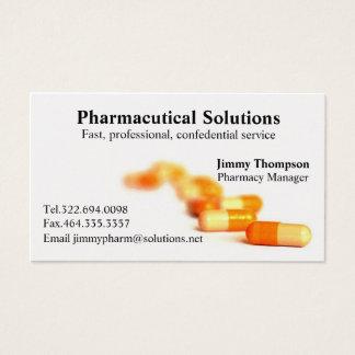 Farmacéutico de las tarjetas de visita de la