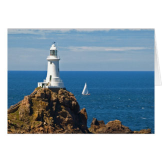 Faro blanco (tarjeta de cumpleaños) tarjeta de felicitación