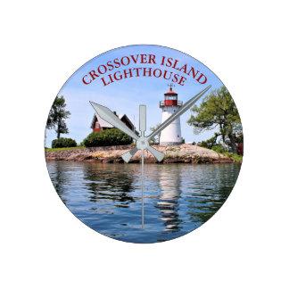 Faro de la isla de la cruce, reloj de Nueva York