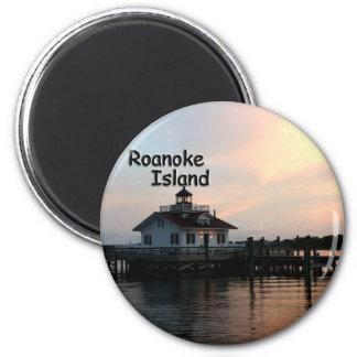 Faro de la isla de Roanoke Imanes