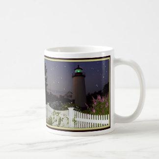 Faro de la isla del ciruelo taza de café
