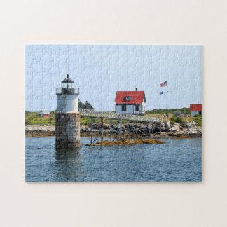 Faro de la isla del espolón, rompecabezas de Maine