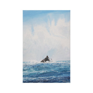 Faro de la roca del becerro: Impresión de la lona