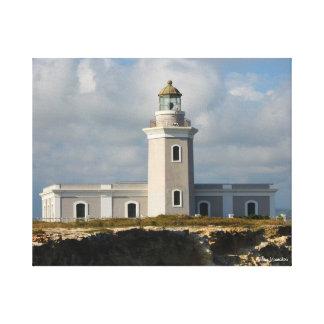 Faro de Los Morillos de Cabo Rojo Impresión En Lona Estirada