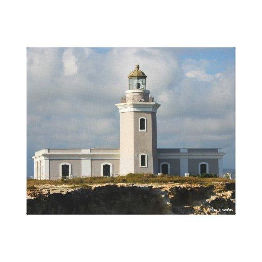 Faro de Los Morillos de Cabo Rojo Impresiones En Lona Estiradas