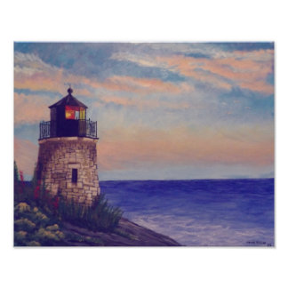 Faro de Rhode Island Póster