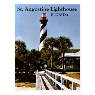 Faro de St Augustine, postal de la Florida