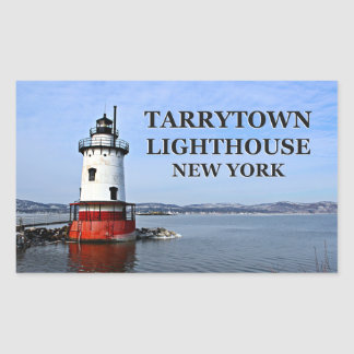 Faro de Tarrytown, pegatinas de Nueva York Pegatina Rectangular