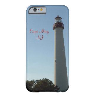 faro del caso del iPhone 6, Cape May, NJ Funda De iPhone 6 Barely There