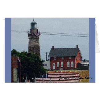 Faro del puerto de Fairport con la tarjeta de