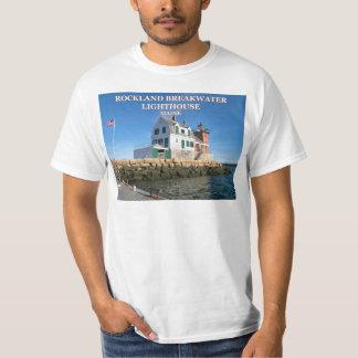 Faro del rompeolas de Rockland, camiseta de Maine
