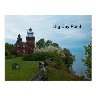 Faro grande del punto de la bahía postal